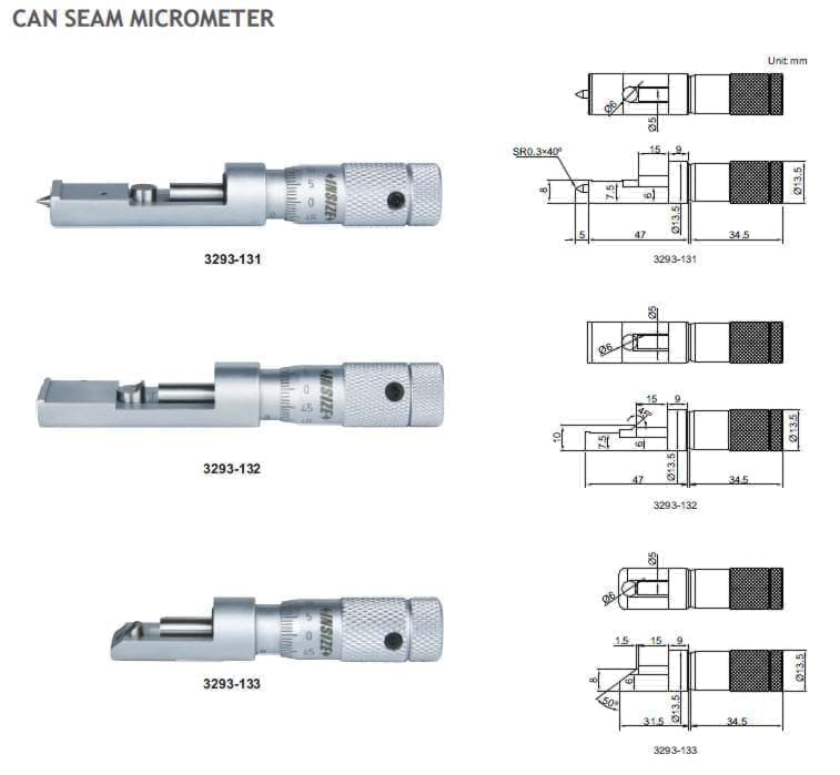 CAN SEAM MICROMETER รุ่น 3293 INSIZE Micrometer