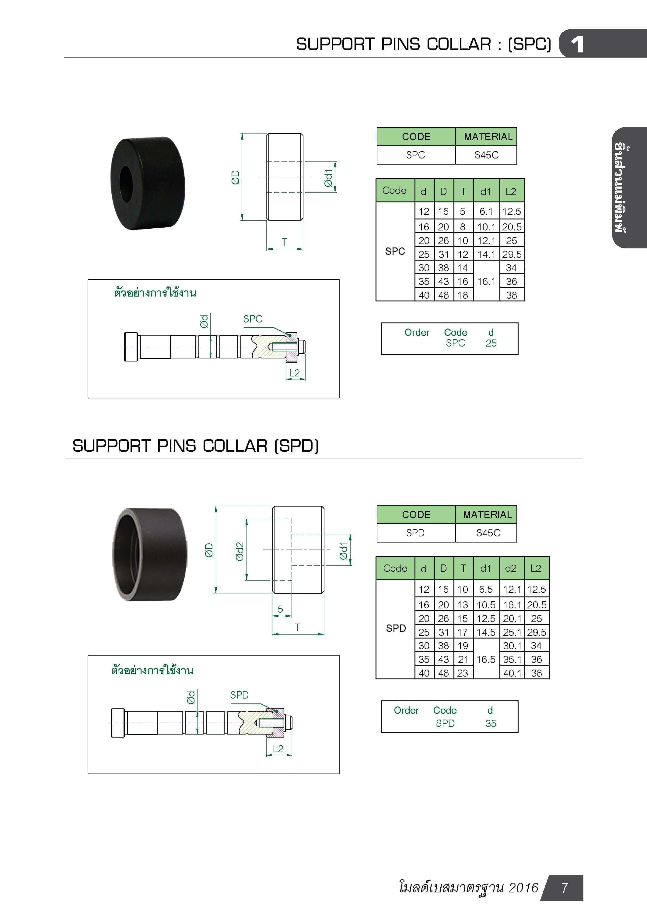 SUPPORT PINS COLLAR : (SPC) MB00701